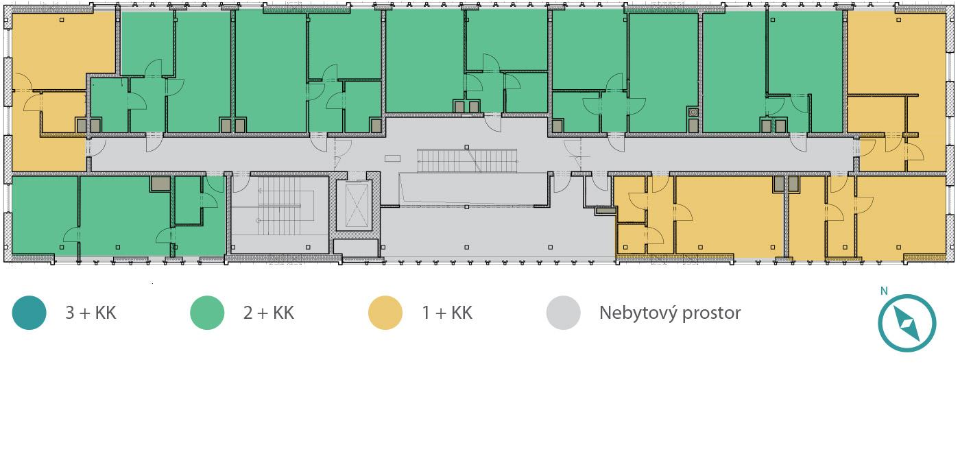 Rezidence V Parku –4. podlaží