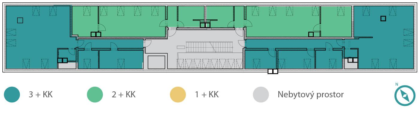Rezidence V Parku –5. podlaží